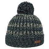 Barts Rhett Kindermütze Beanie Strickmütze Kinderbeanie Wintermütze Bommelmütze (One Size - schwarz-weiß)