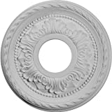 Ekena Millwork CM12PM Palmetto Ceiling Medallion, 12 1/8'OD x 3 1/2'ID x 1'P (Fits Canopies up to 4 7/8'), Factory Primed