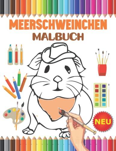 Meerschweinchen Malbuch: 30 süßes Meerschweinchen Illustrationen für kinder und Erwachsene mit schönen und entspannenden Meerschweinchen-Designs. Haustier Geschenkidee für Meerschweinchen Liebhaber.