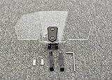 WFSH Lunas y deflectores de Viento para Moto Pantalla de Parabrisas bloqueable Ajustable, Protector...