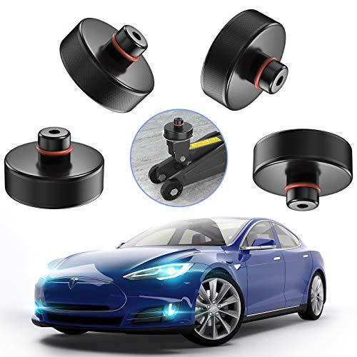 AOXOI Wagenheber Gummiauflage für Rangierwagenheber und Universal Gummiauflage für Tesla Model 3/PKW/SUV Robust und Praktisch Ideal für Auto Tuning und die Schutz von den Kfz vor Kratzern (4 Stücke)