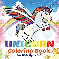 Unicorn Coloring Book For Kids Ages 4-8: 50 Beautiful Unicorns, Coloring Books For Kids Girls Kids Coloring Book Gift