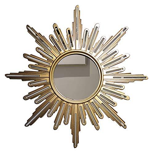 genral Espejo de Pared Espejo Decorativo para Chimenea, Espejo de Pared Colgante, Diámetro: 70 cm, Estilo nórdico, para vestíbulo, Pasillo o baño