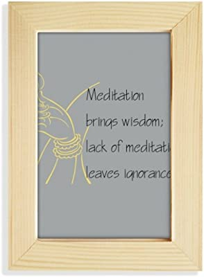 939770f4845b DIYthinker Meditation Brings Wise Buddha Quote Desktop Wooden Photo Frame  Picture Art Painting 5x7 inch