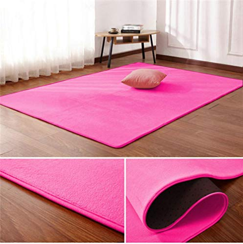 Nordic coral fluwelen tapijt woonkamer vloermat slaapkamer antislip deken woonkamer tapijt slaapkamer nachtkastje rechthoekige vloer pad, 7.180 cm x 200 cm