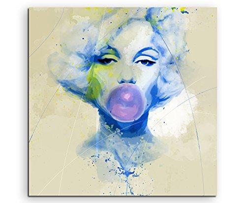 Marilyn Monroe VII Aqua 60x60cm - Splash Art Paul Sinus Wandbild auf Leinwand - Malerei, Kunstbild, Aquarell, Fineartprint