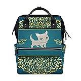LDIYEU Gato Gatito Azul Bolsa Compra Reutilizables Bolsas de Mano para Trabajo Escuela Comestibles Plegables de Playa para Mujeres Niñas