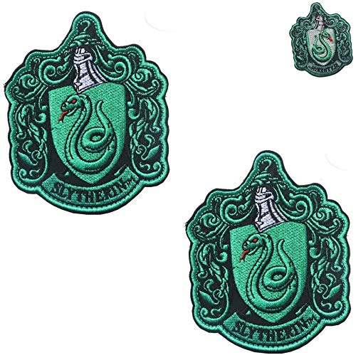 Harry Potter House of Slytherin House Hogwarts Crest parches bordados a todo...