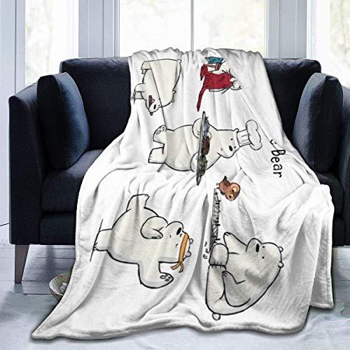 We Bare Bears - Manta de forro polar de franela ligera y acogedora de microfibra de felpa, colcha de ropa de cama para sofá, suave para aire acondicionado (M 60 x 50 pulgadas)