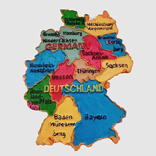 Deutschland Kaartstijl Duitsland 3D koelkast magneet Huis & keuken decoratie magnetische sticker Deutschland Kaartstijl Duitsland koelkast magneet toeristische souvenir geschenk