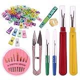 137 piezas/set de pinzas para coser, agujas, separadores de hilo, cinta métrica