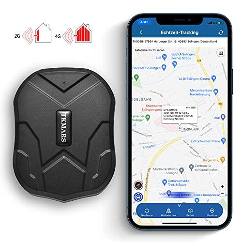 KUCE 4G GPS Tracker Auto,GPS Tracker mit Starker Magnet Echtzeit GPS/GPRS/GSM Tracker Diebstahlsicherung für Fahrzeug Autos Motorrad LKW Wasserdicht GPS Ortungsgerät