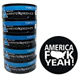 Nip Energy Dip Wintergreen Ice 5 Cans with DC Crafts Nation Skin Can Cover - America