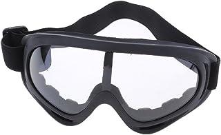 1 par de óculos para motociclismo, quadriciclo, esportes, para-brisa, óculos de proteção contra poeira - transparente