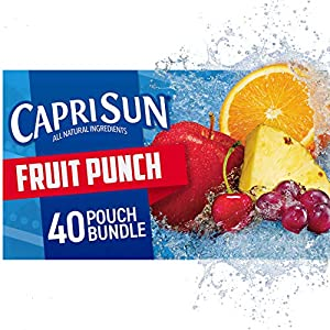 Capri Sun Fruit Punch Ready-to-Drink Juice (40 Pouches, 4 Boxes of 10) |