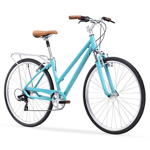 sixthreezero Pave N' Trail Women's 7-Speed Hybrid Bike, 26' Wheels/ 17' Frame, Teal, 17'/One Size