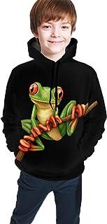 Tree Frog Kids/Teen Boys Girls Hoodies,3D Print Pullover Sweatshirts