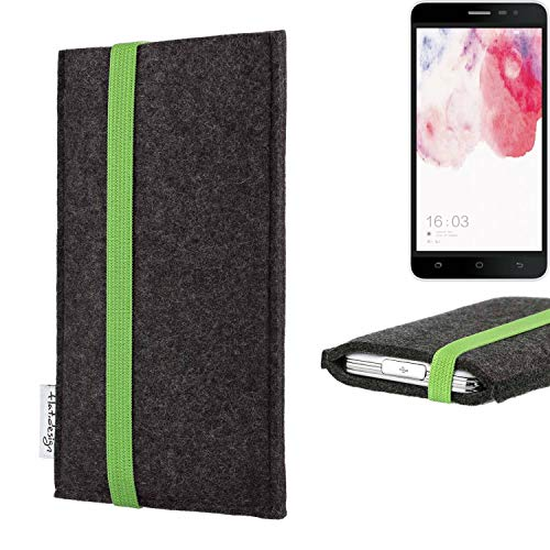 flat.design vegane Handy Tasche Coimbra für Hisense F20 Dual-SIM - Schutz Hülle Tasche Filz vegan fair grün