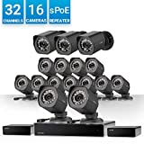 Zmodo 32 Channel HD NVR Security System 16 x IP 720P HD