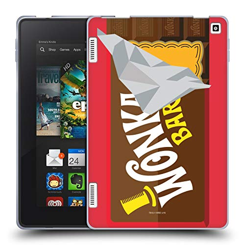 Official Willy Wonka and The Chocolate Factory Candy Bar Graphics Soft Gel Case Compatible for Amazon Fire HD 7