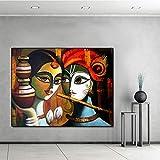 BailongXiao Cartel de Pintura al óleo con Estampado de Lienzo True Love e impresión de Arte para la decoración del hogar de la Sala de Estar,Pintura sin Marco,75x93cm