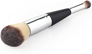 MagiDeal Pro Cosmetic Wooden Makeup Brush Essential Dual Ended Face Flat Contour Foundation Tool