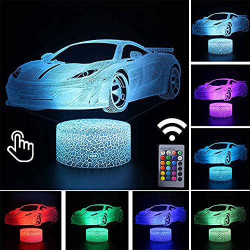 SHGUANMO RC Figura de acción del Coche LED 3D Luz Nocturna 7/16 Color Cambiador de Color Anime Toy Remote Control Toy for niños Cumpleaños (Color : Touch and Remoter 2)