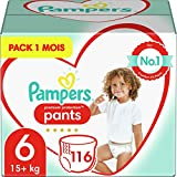 Pampers Premium Protection Pants Dimensione 6, 116 pannolini, 1 mese Box