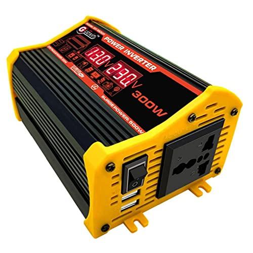 Convertidor de automóviles de 300W Energy Inverter con doble adaptador de cargador de coche USB LED Distribución de energía DC 12V a 220V AC