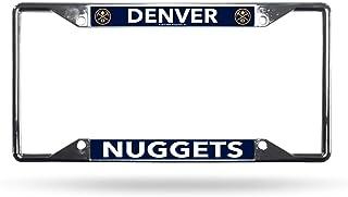 WinCraft Denver Nuggets Premium License Plate Frame Chrome Plated