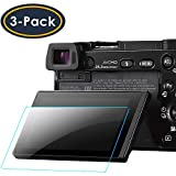 QIBOX Glass Screen Protector Compatible with Sony Alpha A6000 A5000 A6300...