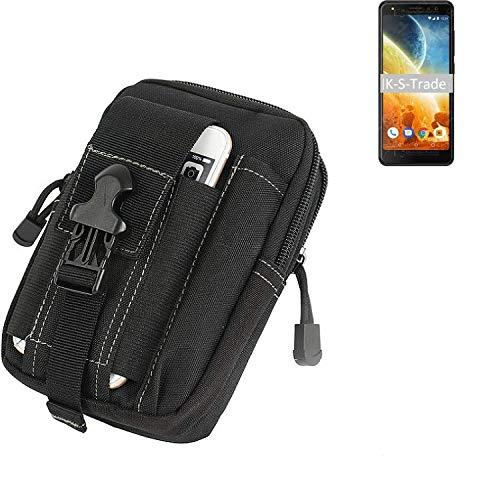 K-S-Trade Gürtel Tasche Für Energizer Power Max P490S Gürteltasche Holster Schutzhülle Handy Hülle Smartphone Outdoor Handyhülle Schwarz Zusatzfächer