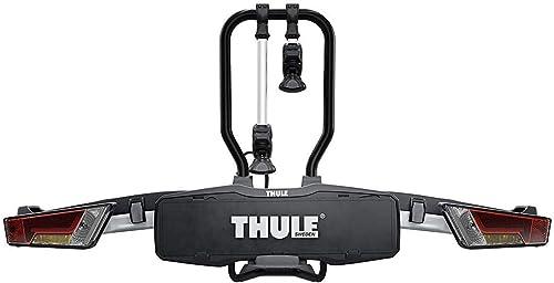 Thule EasyFold XT 2, Porte-vélos sur boule d'attelage entièrement pliable, compact, facile à utiliser et compatible a...