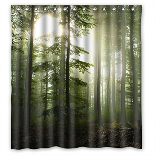 Sunshine Forest Rideau de douche personnalisé 168 x 182 cm