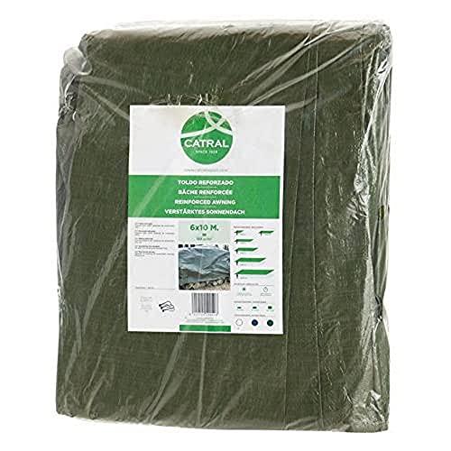 Toldo reforzado gramaje 120 grs, 3 x 4 m, color verde - Catral 560102