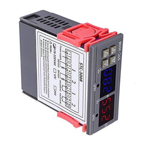 Control de temperatura de microordenador, pantalla digital electrónica STC-3008 para frigoríficos termostáticos inteligentes (110 ~ 240 VAC)
