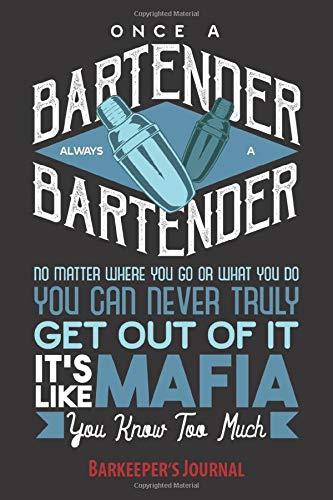 Barkeeper\'s Journal: Notizbuch Barkeeper, (6\'\' x 9 \'\'), punktkariert, für Notizen, Ideen, Termine, Rezepte, Cocktails, Party   cooles Geschenk für ... Kellner zum Geburtstag oder zu Weihnachten