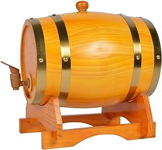 Oak Barrel, Seau de Vieillissement en Chêne, Fût de Whisky de 5 Litres Garni de Papier D'aluminium pour La Vinification Ou...