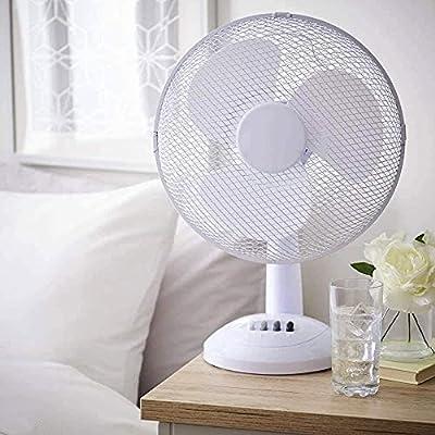 Desk Fan 12 Inch Portable White