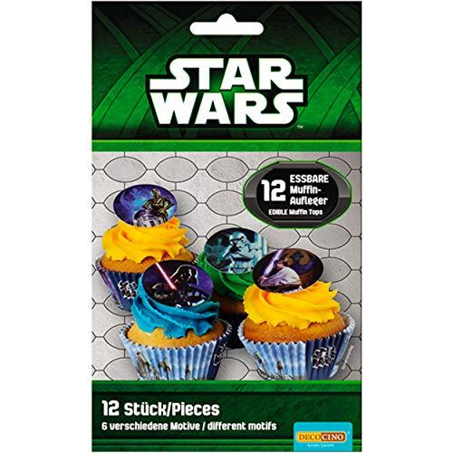 Star Wars Mini Discos de Azúcar Decoración para Cupcakes 1