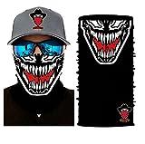 Bandits Team I Bedrucktes Multifunktionstuch I Face Shield aus Mikrofaser- fürs Motorrad-, Fahrrad- und Skifahren I Farbe: Venom I 1er Pack