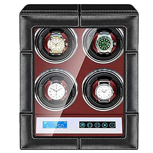 Angelay-Tian Caja enrolladora de Reloj automática con 4 Posiciones de enrollador de Reloj Pantalla táctil LCD Inteligente para Hombres y Mujeres Regalos del día de San Valentín Regalos de cumpleaños