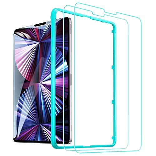 """ESR Pellicola Compatibile con iPad PRO 11 5G 2021/2020/2018, iPad Air 4 (2020) 10.9"""" [2 Pezzi][Cornice di allineamento], Pellicola salvaschermo in Vetro temperato [Anti-Graffo/Olio/Impronta]"""