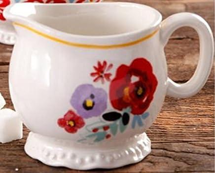 Pioneer Woman Floral Design Stoneware Creamer Cup