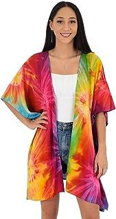Island Style Clothing Kimono Tie-Dye Resortwear Beach Cover