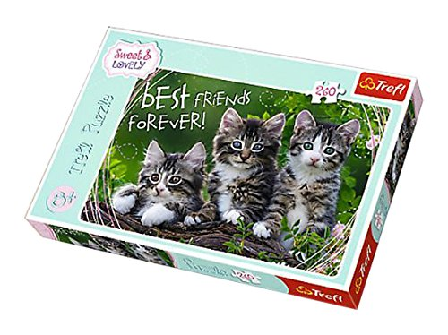 Trefl - 13215 - Puzzle Sweet Et Lovely Chatons - 260 Pièces