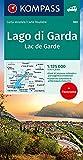 Gardasee - Lago di Garda 1:125 000: Strassenkarte 1:125000 mit Panorama.: 360