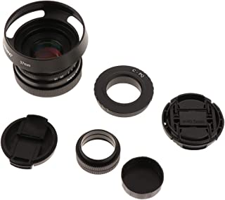 Baosity Metal 35mm F1.6 APS-C CCTV Lens for Pentax PQ Q Mount Camera Black