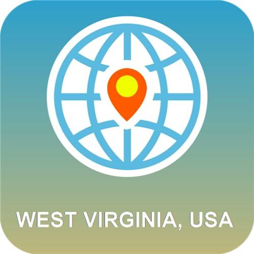 West Virginia, USA Karte