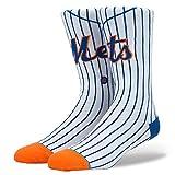 Stance Men's Mets Home Sock, White - Medium
